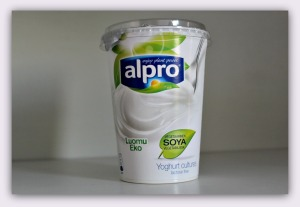 vegansk yoghurt af soja fra Alpro