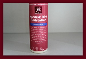 Vegansk bodylotion, creme fra Urtekram