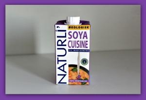 vegansk fløde af soja fra Naturli'