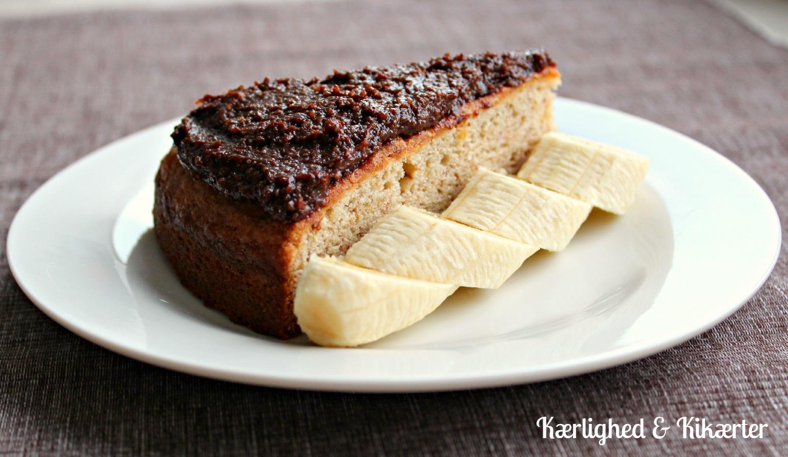 vegansk banankage, uden æg, uden mælk