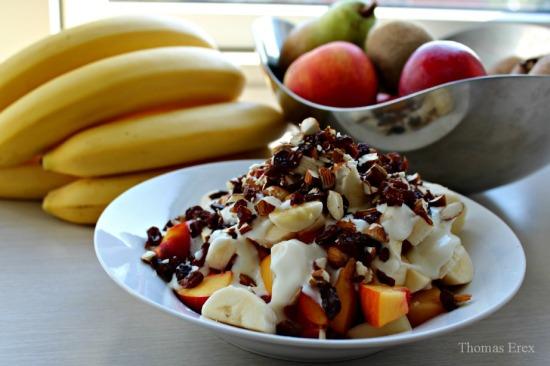 sojayoghurt frugt morgenmad