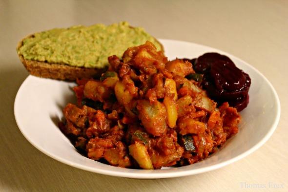 vegansk biksemad, uden kød, vegetarisk