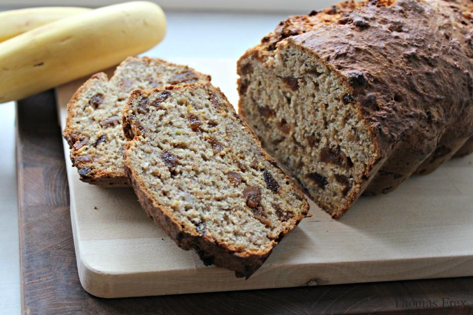 vegansk bananbrød uden sukker