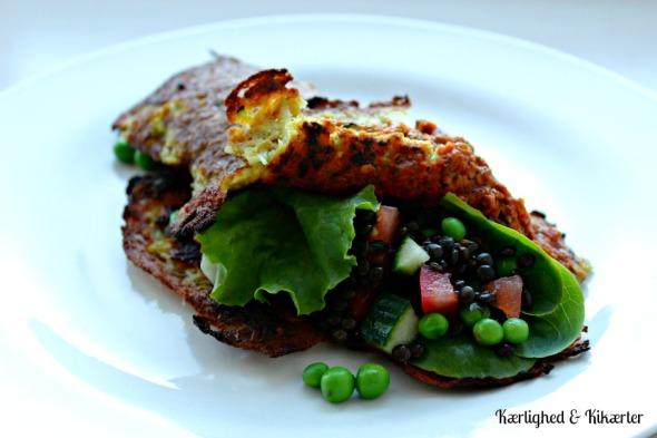 vegansk, madpandekager, uden æg, pandekager, kikærtemel