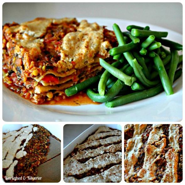 vegansk, lasagne, cashewcreme, cashewost, cashewsauce, uden kød, uden ost, uden mælk, laktosefri