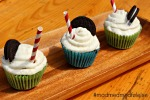 Oreo milkshake muffins