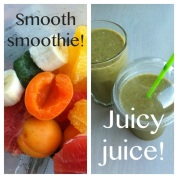 Jeg drikker masser af frugt og grønt. Både som smoothie og juice.