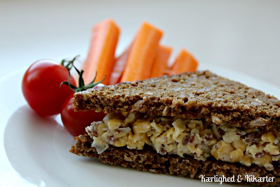 sandwich, vegansk, tunsalat