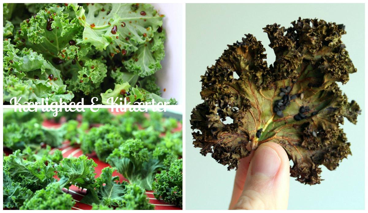 lækre, sunde chips med grønkål