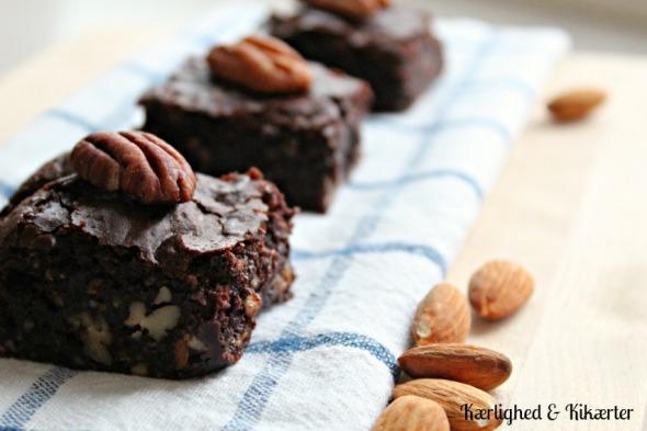 vegansk chokoladekage brownie