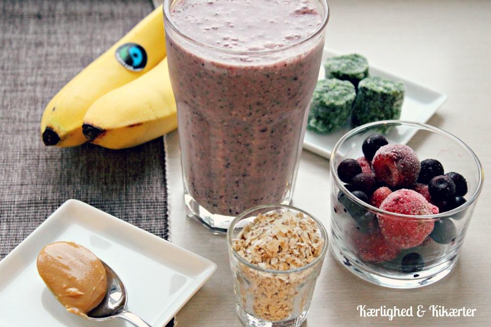 Smoothie til morgenmad, sund