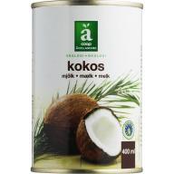 Kokosmælk kender du nok allerede. Den kan bruges som fløde til flødekartofler, i din karryret, til den veganske ostesauce til lasagne og meget mere.