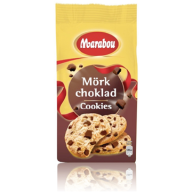 Marabou-cookies med mørk chokolade er fri for mælk, æg og andre animalske ingredienser. De kan købes i de fleste større supermarkeder - jeg finder dem i Løvbjerg.
