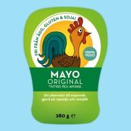 Astrid og Aberne laver tre slags mayo. De kan købes i deres egen butik i København, i nogle SuperBrugsen-butikker og hos Ana Frugt og Grønt i Aarhus.