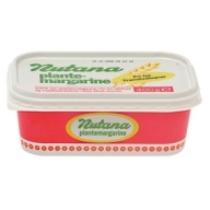 Nutana er plantesmør, som kan købes i Dansk Supermarkeds butikker - fx Føtex og Bilka. (Den kan også findes i Løvbjerg.)