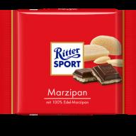 Ritter Sport med marcipan kan findes overalt.