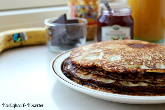 pandekager, brunch, uden mælk, uden æg