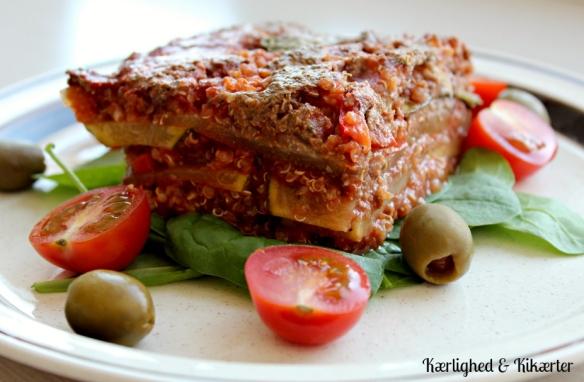 squashlasagne med quinoa, sund, glutenfri, lasagne