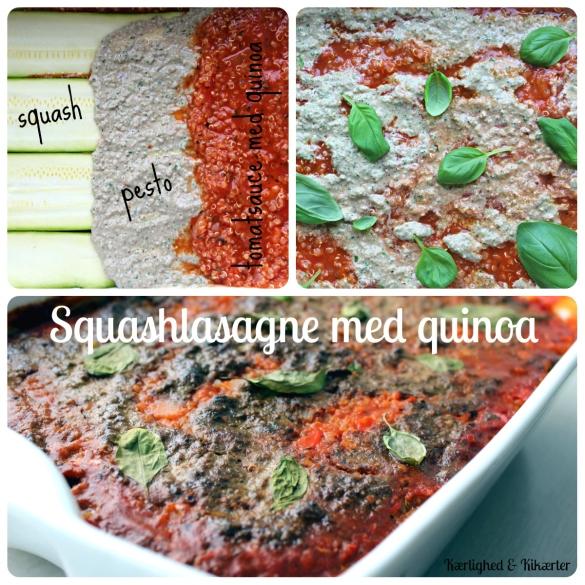 vegansk lasagne uden ost, grøntsagslasagne, sund, quinoa