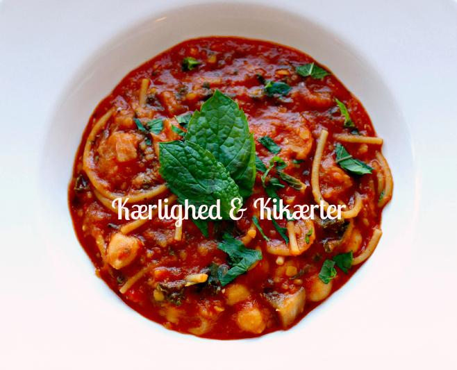 marokkansk suppe, vegetar, kikærter