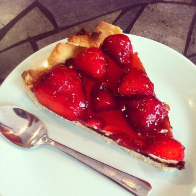 Jordbærtærte.