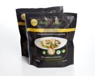 Soy4you-bites minder om kyllingestykker, men er lavet direkte af sojabønnerne. Det er både bæredygtigt, dyrevenligt og smart. Findes i en del større supermarkeder og altid i Rema 1000.