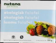 Falafel er nok de mest traditionelle veganske frikadeller. De er lavet af kikærter og kan købes i mange varianter. Vær opmærksom på, at der nogle gange er æg i falaflerne, man kan købe i butikkerne. Det er dog ikke tilfældet med disse fra Nutana, som er helt veganske og kan findes i alle de større supermarkeder.