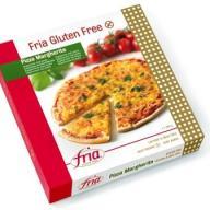 Frias glutenfri pizza er vegansk og kan købes i Rema 1000 til omkring 40 kr. Desværre er den ikke særligt god. Jeg har fået god pizzabund og vegansk ost mange gange, så jeg ved, at det ikke skal smage af pap med flydende plastik på, men okay, den er der, og den er vegansk. Hvis man er glutenallergiker, er den sikkert fin. Jeg har venner, der helt seriøst mener, den er rigtig fin, hvilket jeg ikke forstår, men prøv den selv. I et svagt øjeblik har jeg da købt den og toppet den med vegansk chorizo og pesto, men altså, jeg vil 100 gange hellere lave min egen pizza.