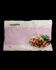 Nutanas vegetariske biksemad er vegansk og kan findes i nogle af de større supermarkeder med fokus på økologi. Du kan evt. efterspørge den i din lokale Kvickly eller SuperBrugsen.