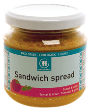 Urtekrams sandwichspreads er rigtig gode. De kan fås i de fleste sørre supermarkeder med fokus på økologi. Da de er lidt dyre, kan du evt. lave dem selv eller hamstre dem, når de er på tilbud.