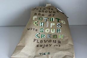 sour cream vegansk chips