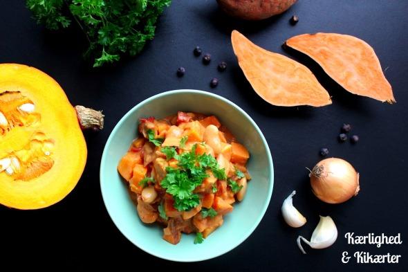 gryderet, hokkaido, søde kartofler